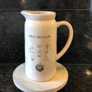 Rae Dunn Witch's Brew Recipe Pitcher